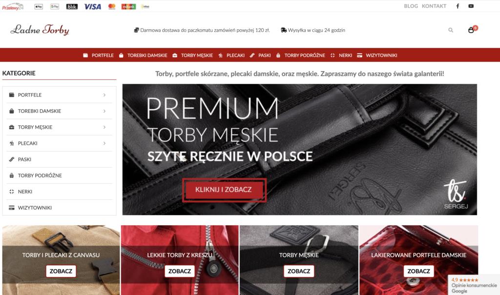 Sklep internetowy LadneTorby.pl