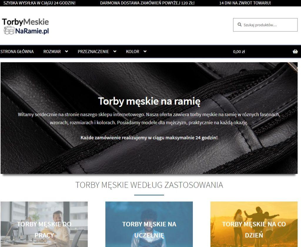 Sklep internetowy TorbyMeskieNaramie.pl